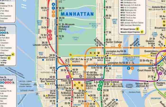 Mappa della metro di New York