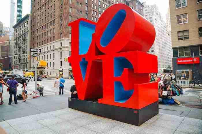 Scultura Love a New York