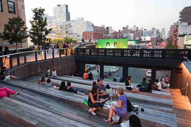La vista sulla 10th Avenue dalla High Line