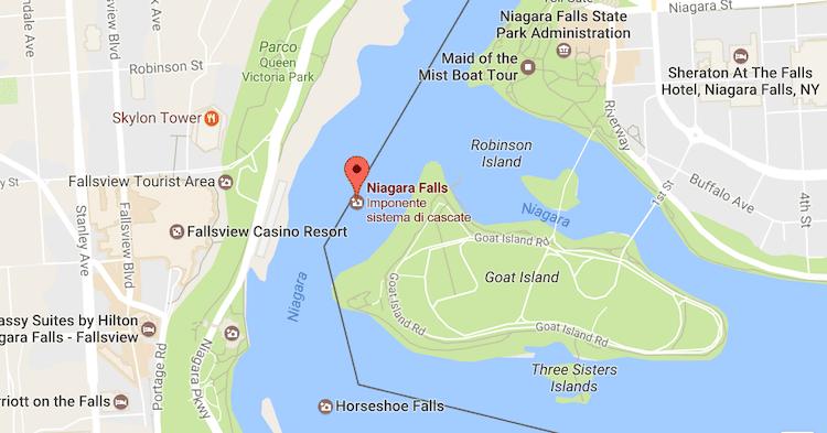 Dove si trovano le Cascate del Niagara