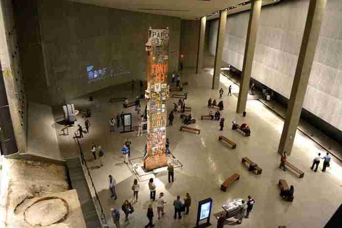 colonna nella Foundation Hall, 9/11 Museum