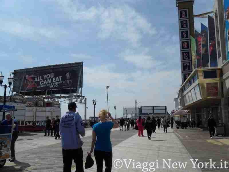 Il Boardwalk di Atlantic City
