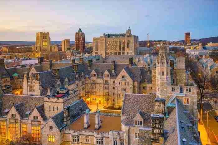 New Haven e il campus universitario di Yale