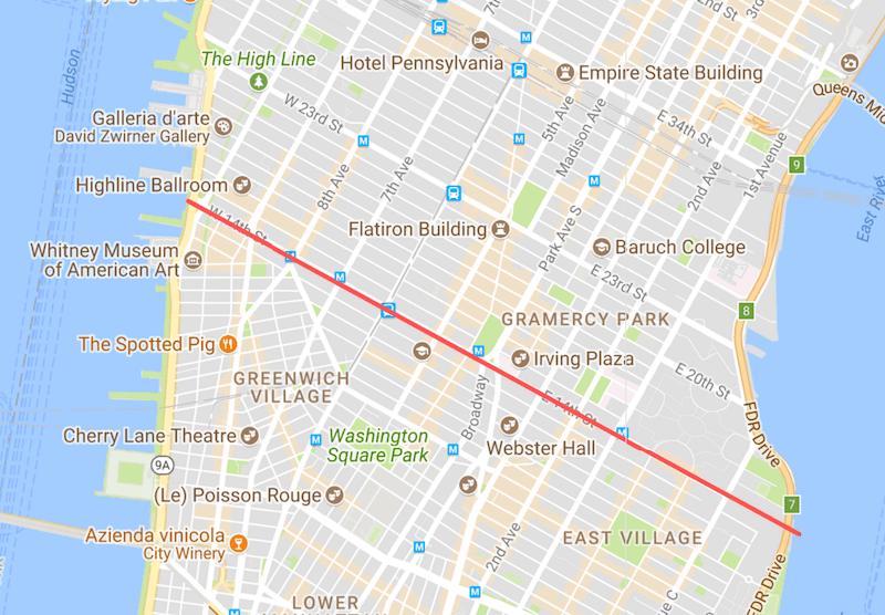 14th Street: confine tra Lower e Midtown Manhattan