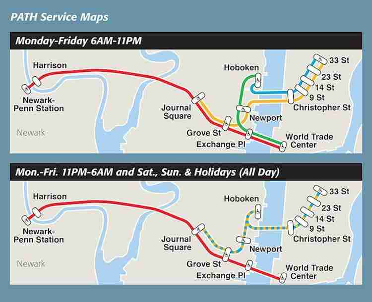 Mappa delle linee della Path