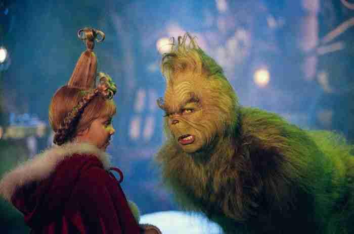 Una scena del Grinch con Jim Carrey