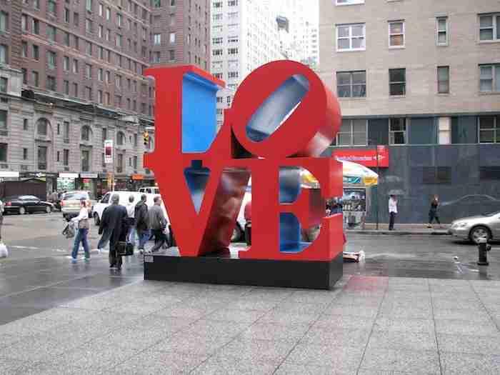 Scritta Love a New York