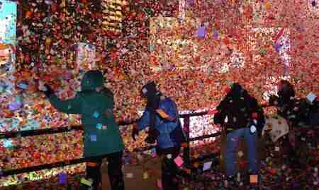 Coriandoli di Capodanno a New York