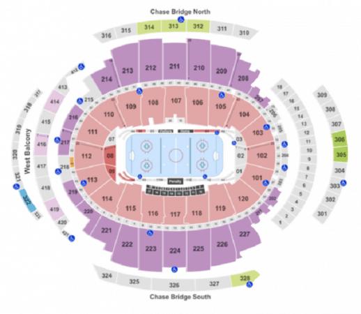 Mappa del Madison Square Garden