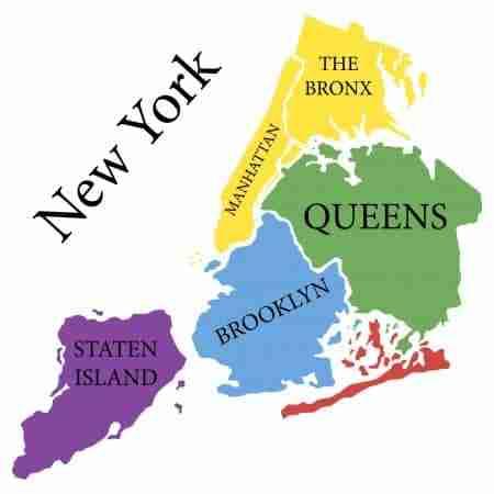 I 5 distretti di New York