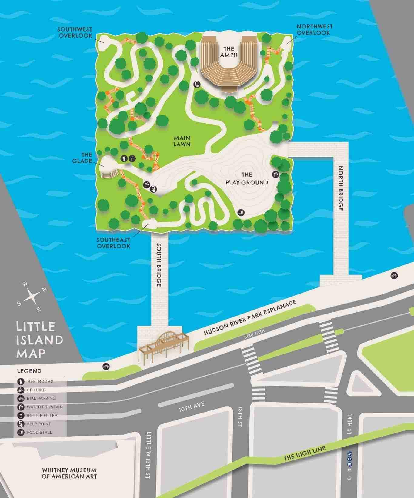 Mappa Little Island, New York
