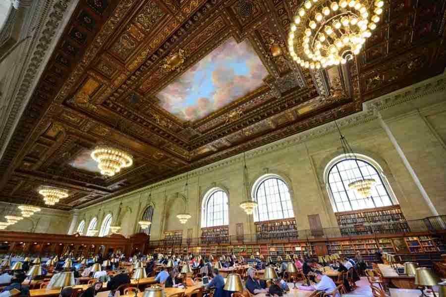 La sala di lettura della New York Public Library